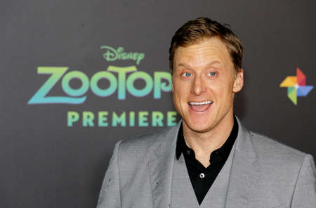 alan: Alan Tudyk at the Los Angeles premiere of 'Zootopia' held at the El Capitan Theater in Hollywood, USA on February 17, 2016. Editorial