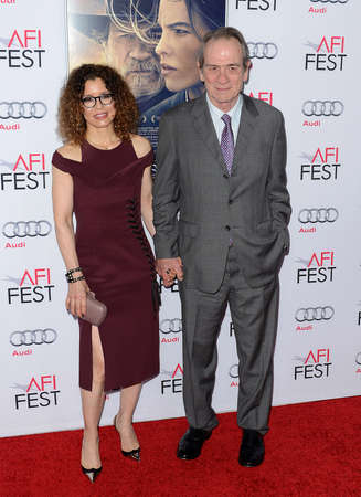 tommy: Tommy Lee Jones and Dawn Laurel-Jones at the AFI FEST 2014 Gala Premiere of The Homesman held at the Dolby Theatre in Los Angeles, USA on November 11, 2014.