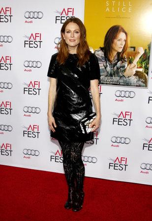 AFI 映画祭 2014 でジュリアン ・ ムーア アメリカのハリウッドのドルビー劇場で 2014 年 11 月 12 日開催「まだアリス」の特別上映。