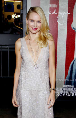 premiere: Naomi Watts at the AFI FEST 2011 Opening Night Gala World Premiere Of J. Edgar held at the Graumans Chinese Theatre in Hollywood on November 3, 2011. Editorial