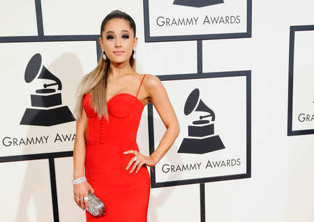 Ariana Grande at the 58th GRAMMY Awards held at the Staples Center in Los Angeles, USA on February 15, 2016. 報道画像