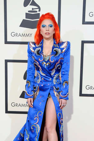 gaga: Lady Gaga at the 58th GRAMMY Awards held at the Staples Center in Los Angeles, USA on February 15, 2016. Editorial