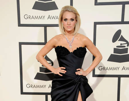 grammy: Carrie Underwood at the 58th GRAMMY Awards held at the Staples Center in Los Angeles, USA on February 15, 2016.