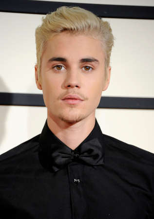 Justin Bieber at the 58th GRAMMY Awards held at the Staples Center in Los Angeles, USA on February 15, 2016. 報道画像