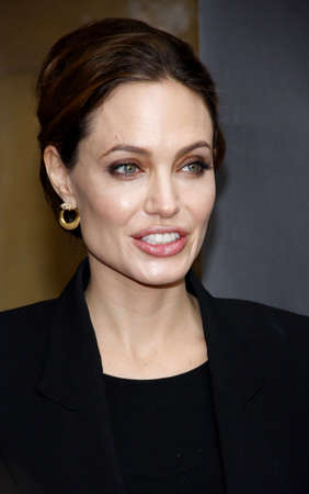 golden globe: Angelina Jolie at the American Cinematheques 69th Annual Golden Globe Awards Foreign-Language Nominee Event held at the Egyptian Theater on January 15, 2012.