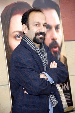 golden globe: Asghar Farhadi at the American Cinematheques 69th Annual Golden Globe Awards Foreign-Language Nominee Event held at the Egyptian Theater on January 15, 2012.