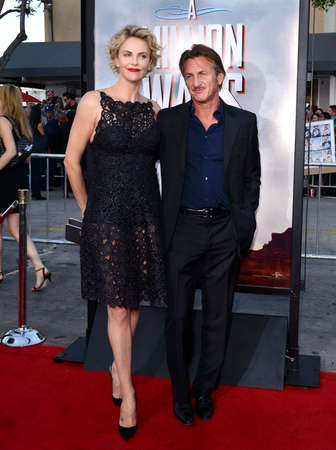 sean: Charlize Theron and Sean Penn at the Los Angeles premiere of A Million Ways To Die In The West held at the Regency Village Theatre in Los Angeles, United States, 150514. Editorial