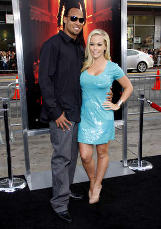 Hank Baskett and Kendra Wilkinson at the Los Angeles premiere of 'A Nightmare On Elm Street' held at the Grauman's Chinese Theatre in Hollywood on April 27, 2010.