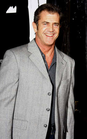 Mel Gibson attends the Los Angeles Premiere of American Gangster held at the ArcLight Cinemas in Hollywood, California, United States on October 29, 2007. Editorial