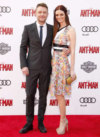 dolby: Chris Hardwick and Lydia Hearst at the World premiere of Marvels Ant-Man held at the Dolby Theatre in Hollywood, USA on June 29, 2015.