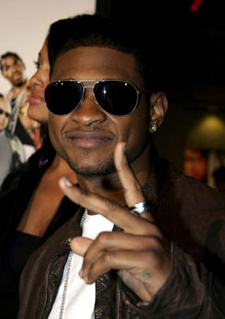 usher: Usher attends the Los Angeles Premiere of Be Cool held at the Grauman Chinese Theater in Hollywood, California on February 14, 2005.