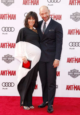 dolby: Evangeline Lilly and Corey Stoll at the World premiere of Marvels Ant-Man held at the Dolby Theatre in Hollywood, USA on June 29, 2015. Editorial