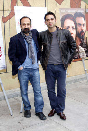 golden globe: Asghar Farhadi and Peyman Moaadi at the American Cinematheques 69th Annual Golden Globe Awards Foreign-Language Nominee Event held at the Egyptian Theater on January 15, 2012.