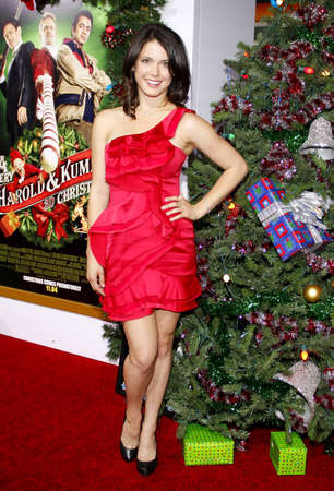 hollywood christmas: Ali Cobrin at the Los Angeles premiere of A Very Harold & Kumar 3D Christmas held at the Graumans Chinese Theater in Hollywood on November 2, 2011. Editorial