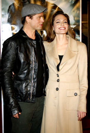 angelina jolie: Brad Pitt and Angelina Jolie attend the Los Angeles Premiere of Beowulf held at the Westwood Village Theater in Westwood, California, United States on November 5, 2007. Editorial