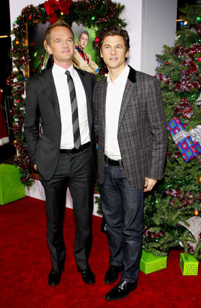 hollywood christmas: Neil Patrick Harris and David Burka at the Los Angeles premiere of A Very Harold & Kumar 3D Christmas held at the Graumans Chinese Theater in Hollywood on November 2, 2011.