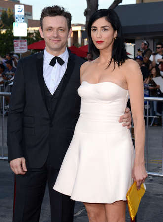 sheen: Michael Sheen and Sarah Silverman at the Los Angeles premiere of A Million Ways To Die In The West held at the Regency Village Theatre in Los Angeles, United States, 150514.