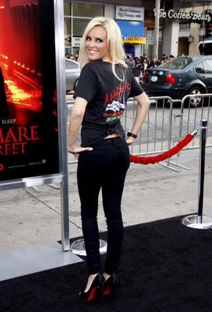 premiere: Bridge Marquardt at the Los Angeles premiere of A Nightmare On Elm Street held at the Graumans Chinese Theatre in Hollywood on April 27, 2010.