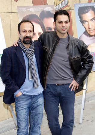 golden globe: Asghar Farhadi and Peyman Moaadi at the American Cinematheque's 69th Annual Golden Globe Awards Foreign-Language Nominee Event held at the Egyptian Theater on January 15, 2012.