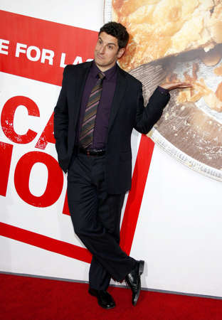 Jason Biggs at the Los Angeles premiere of American Reunion held at the Graumans Chinese Theater in Hollywood on March 19, 2012.