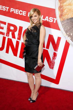 Mena Suvari at the Los Angeles premiere of American Reunion held at the Graumans Chinese Theater in Hollywood on March 19, 2012.