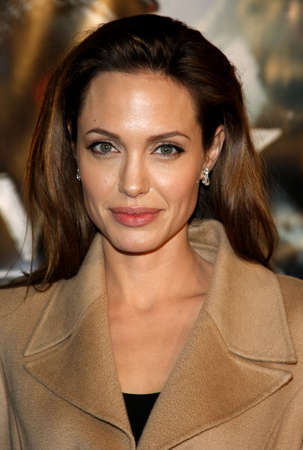 """angelina jolie: Angelina Jolie at the Los Angeles Premiere of """"Beowulf"""" held at the Westwood Village Theater in Westwood, California, United States on November 5, 2007. Editorial"""