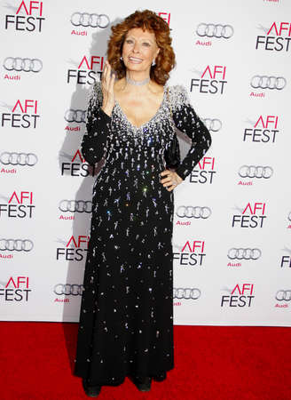 Sophia Loren at the AFI FEST 2014 Special Tribute to Sophia Loren held at the Dolby Theatre held at the Dolby Theatre in Los Angeles on November 12, 2014 in Los Angeles, California.