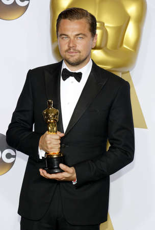 hollywood   california: Leonardo DiCaprio at the 88th Annual Academy Awards - Press Room held at the Loews Hollywood Hotel in Hollywood, USA on February 28, 2016.