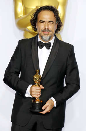 Alejandro Gonzalez Inarritu at the 88th Annual Academy Awards - Press Room held at the Loews Hollywood Hotel in Hollywood, USA on February 28, 2016.