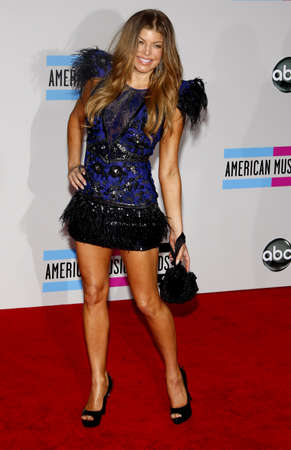 american music: Fergie at the 2010 American Music Awards held at the Nokia Theatre L.A. Live in Los Angeles on November 21, 2010. Editorial