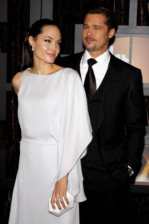 brad pitt: Angelina Jolie and Brad Pitt at the 14th Annual Critics Choice Awards held at the Santa Monica Civic Center in Santa Monica on January 8, 2009. Credit: Lumeimages.com