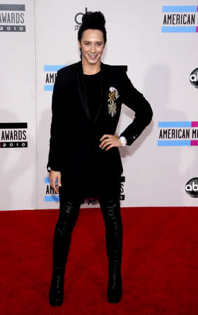 american music: Johnny Weir at the 2010 American Music Awards held at the Nokia Theatre L.A. Live in Los Angeles on November 21, 2010.