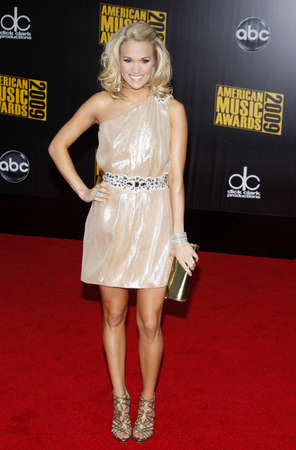 american music: Carrie Underwood at the 2009 American Music Awards held at the Nokia Theater in Los Angeles on November 22, 2009.