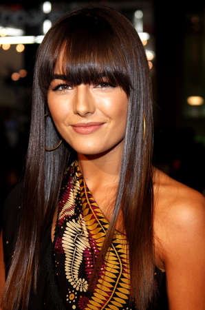 """premieres: Camilla Belle attends the Los Angeles Premiere of """"10.000 BC"""" held at the Grauman's Chinese Theater in Hollywood, California, United States on March 5, 2008."""