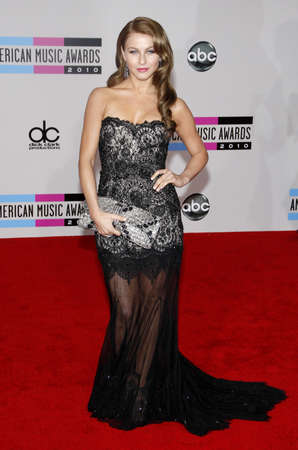 american music: Julianne Hough at the 2010 American Music Awards held at the Nokia Theatre L.A. Live in Los Angeles on November 21, 2010.