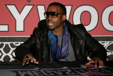 Kanye West at the in-store signing of his new release Graduation held at the Virgin Megastore Hollywood & Highland in Hollywood, USA on September 13, 2007.