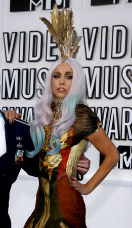 gaga: Lady Gaga at the 2010 MTV Video Music Awards held at the Nokia Theatre L.A. Live in Los Angeles on September 12, 2010. Credit: Lumeimages.com