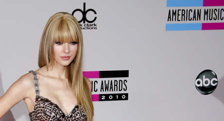 american music: Taylor Swift at the 2010 American Music Awards held at the Nokia Theatre L.A. Live in Los Angeles on November 21, 2010.