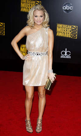 underwood: Carrie Underwood at the 2009 American Music Awards held at the Nokia Theater in Los Angeles on November 22, 2009.