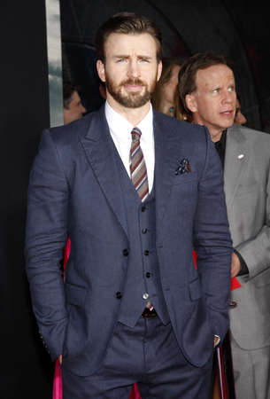 evans: Chris Evans at the Los Angeles premiere of Captain America: The Winter Soldier held at the El Capitan Theatre in Los Angeles, USA on March 13, 2014. Editorial