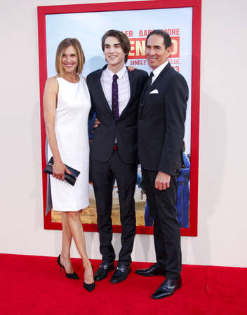 zak: Brenda Strong and Zak Henri at the Los Angeles premiere of Blended held at the TCL Chinese Theatre in Los Angeles on May 21, 2014 in Los Angeles, California.