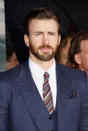 Chris Evans at the Los Angeles premiere of Captain America: The Winter Soldier held at the El Capitan Theatre in Los Angeles, USA on March 13, 2014. Editorial