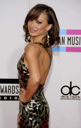 american music: Karina Smirnoff at the 2010 American Music Awards held at the Nokia Theatre L.A. Live in Los Angeles on November 21, 2010.