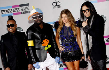 taboo: Fergie, Taboo, will.i.am and apl.de.ap of Black Eyed Peas at the 2010 American Music Awards held at the Nokia Theatre L.A. Live in Los Angeles on November 21, 2010.