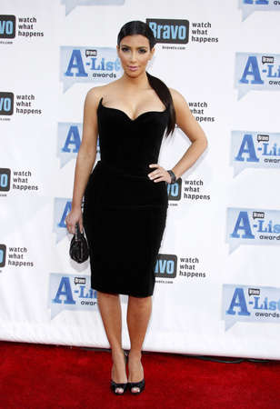 Kim Kardashian at the 2009 Bravos A-List Awards held at the Orpheum Theatre in Los Angeles on April 5, 2009. Редакционное