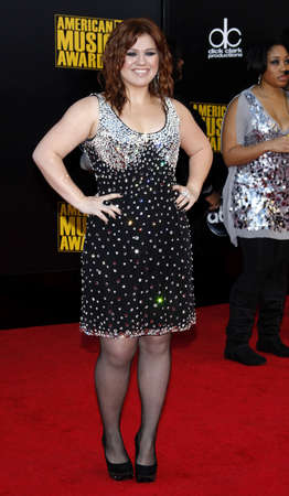 kelly: Kelly Clarkson at the 2009 American Music Awards held at the Nokia Theater in Los Angeles on November 22, 2009.