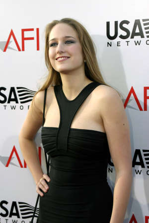 Leelee Sobieski at the 2004 AFI Lifetime Achievement Award held at the Kodak Theatre in Hollywood on June 10, 2004. Editorial