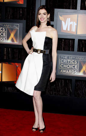 hathaway: Anne Hathaway at the 14th Annual Critics Choice Awards held at the Santa Monica Civic Center in Santa Monica on January 8, 2009. Credit: Lumeimages.com