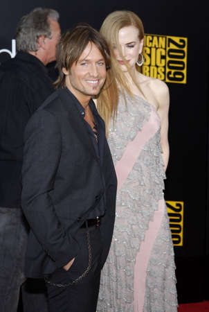 Keith Urban and Nicole Kidman  at the 2009 American Music Awards held at the Nokia Theater in Los Angeles on November 22, 2009. Editorial