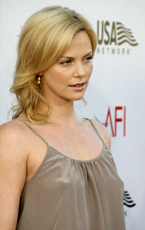 Charlize Theron at the 2004 AFI Lifetime Achievement Award held at the Kodak Theatre in Hollywood on June 10, 2004.